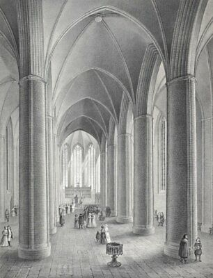 HANNOVER - Marktkirche - Mithoff - Tonlithographie 1848