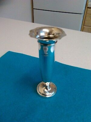 Vintage Small Silver Plated Bud Trumpet Vase - 12cm Tall (962)
