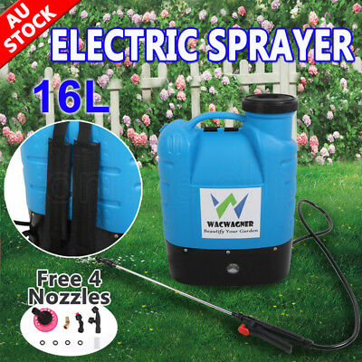 16L 12V Electric Weed Sprayer Rechargeable Backpack Farm Garden Chemical Spray