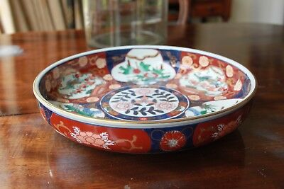 Antique Chinese Fine Imari Bowl Fruit Plate Mint Condition Signed