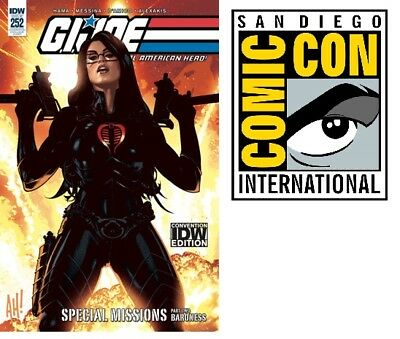 SDCC 2018 IDW Exclusive GI Joe Real American Hero #252 Comic Con LE Baroness