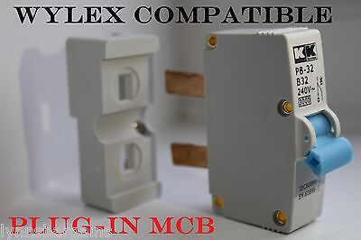 Wylex Plug-In MCB -  6 Amp - 16 Amp - 32 Amp - Fully Compatible Trip Switch Fuse