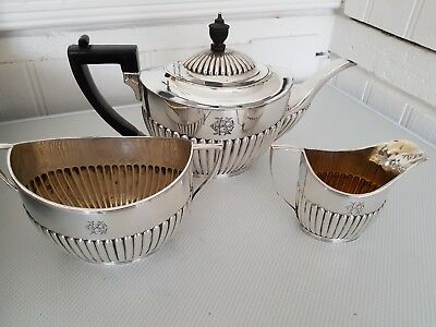 Silver Plate Teaset C1870 Excellent condition By Charles Favel&co Sheffield