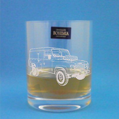 Bohemia Crystal-Bicchiere da Whisky serie 3 con logo Land Rover, In