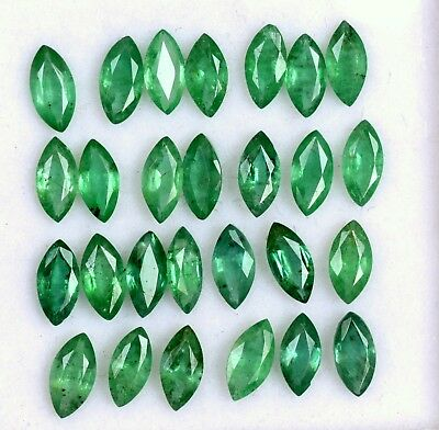2.07 Cts Natural Emerald Marquise Cut 6x3 mm Lot 10 Pcs Untreated Loose Gemstone