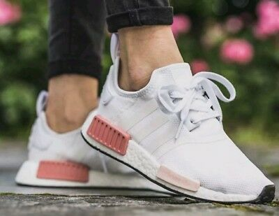 DS ADIDAS NMD R1 Women Runner White Rose BY9952 Sz-9.5 W  Brand new ... f0768c000