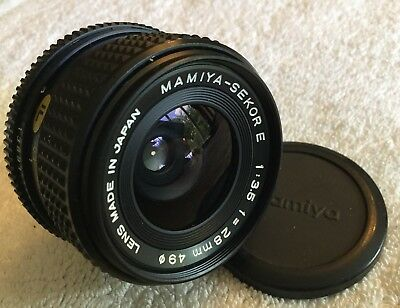 MAMIYA SEKOR E 28mm 1:3.5 WIDE ANGLE LENS with ZE MOUNT in EXCELLENT CONDITION