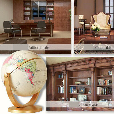 Table Stand Earth Globe World Map Swivel Geography Educational Toy Kids Toy
