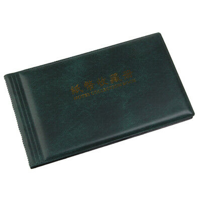 Banknote Currency Collection Album Paper Money Pocket 30 Pages -Green