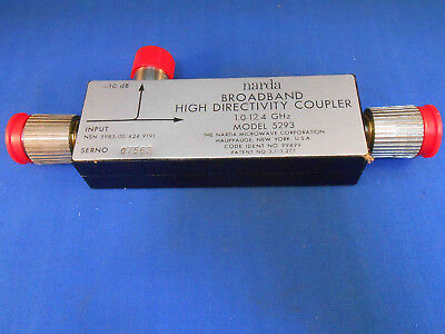 5293 Narda Directional Coupler  1.15-12.4 Ghz Type N New Old Stock