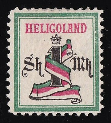 HELIGOLAND 1875 Numeral 1Mk RARE GENUINE ONLY 300 PRINTED EXPERTISED.