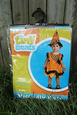 Tiny Treats Cute Infant Baby Girl Witch Costume 12 -18 Months Orange & Black