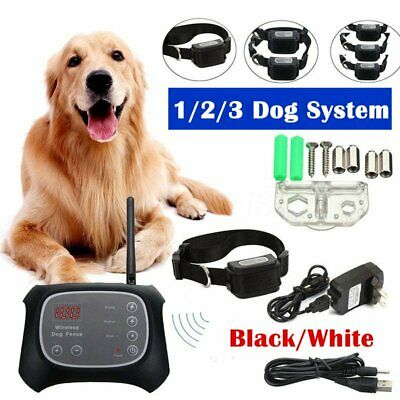 Wireless Dog Fence Pet Containment Waterproof Electric Transmitter Collar MA#
