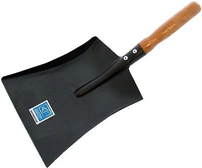 9 Inch Metal Coal Shovel Ash Pan Dust Pan with Strong Wooden Handle