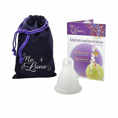 Me Luna Menstrual Cup Classic, Ring, Transparent, Shorty X-Large