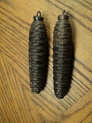 "Vintage Pair of CucKoo Clock Weights - 4-7/8"" Long     316.2 Grams & 313.9 Grams"