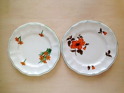 Pair of CROWN STAFFORDSHIRE DEVON/ CAMELOT Plates England Bone China, 8.5''