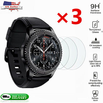 Tempered Glass Screen Protector For Samsung Gear S3 Frontier Watch-3 Pack