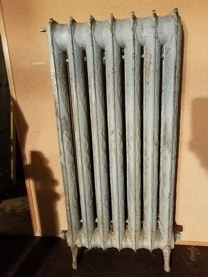 Vintage ornate cast iron hot water or steam Radiator