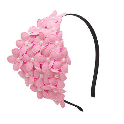 Ladies Girls Women Pearl Large Flower Crown Hair band Headbands Party Gifts