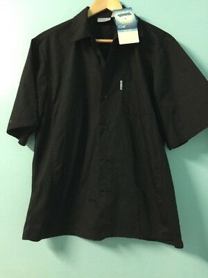CHEF WORKS Men's Chef Shirt Size Medium Cool Vent Collection New Tags #C68