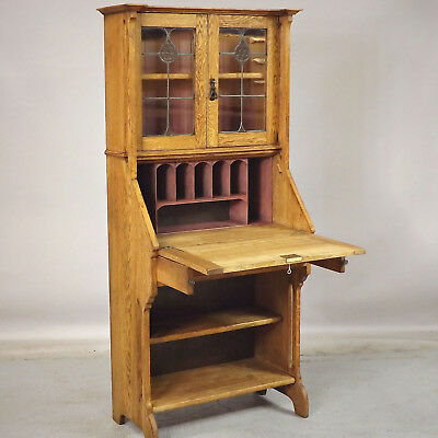 Bureau Bookcase - Arts & Crafts - Oak (delivery available)