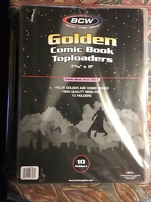 Toploaders for comics Golden Age size 7 11/16 x 11.. New Sealed in package...