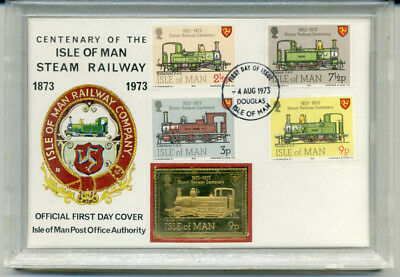 """""""isle Of Man""""  Mixed Values  Centenary  Cover  With Gold Ingot."""