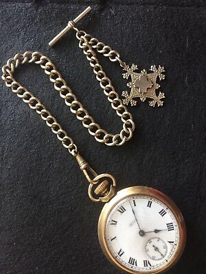 vintage albert chain And Manual Working Pocket Watch