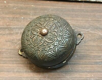 Victorian Eastlake Cast Iron door bell, Copper Plated, 3-1/2""
