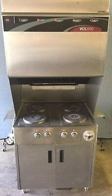 Wells Self Contained Ventless Hoodless Electric 4 Burner Range Vcs2000 NR