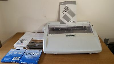 Brother AX430 Vintage Electric Typewriter plus spare ribbon & manual