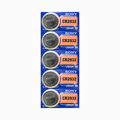5 x SONY CR2032 CR 2032 Lithium Cell Button Batteries Coin Cell Use By Exp 2027