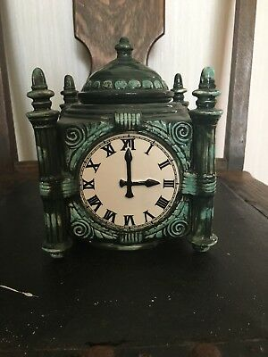 Vintage Marshall Field & Co Chicago Landmark Clock Candy Cookie Jar Canister