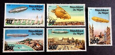 5 wonderful old Zeppelin stamps Niger Airships