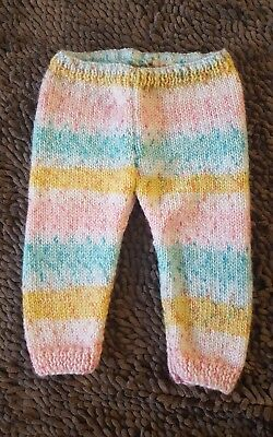 Handmade*Vintage Striped Sweater Pants*Baby Girl 12mos*EVC