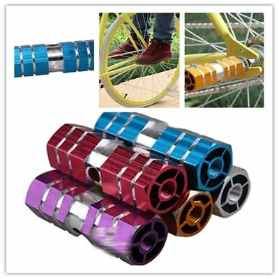 Aluminum Foot Pegs Bicycle Pedals Front Rear Axle Foot Pegs