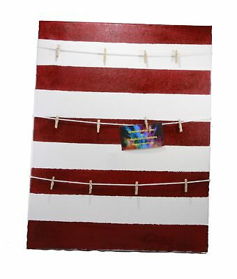 Red and White Striped Photo Canvas