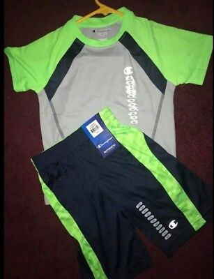 Boys Outfit Champion Size 5/6 Tshirt Shorts New With Tags