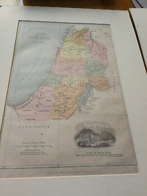 old maps Israel twelve tribes procession of israelites Middle East