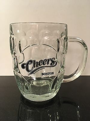 Cheers!!!! Boston Glass Dimpled Beer Mug Made By Luminarc, barrel mug