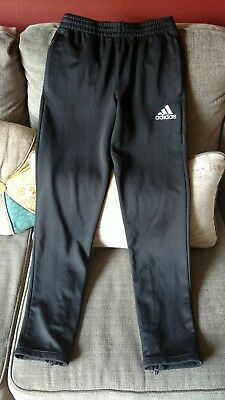 adidas black tapered warm up pants sz youth large