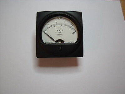 ANTIQUE Weston 301-57 Volt Meter.  Tested and working.  0 to 15 DC Volt Meter