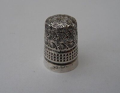 Old Solid Silver Thimble - Hallmarked Charles Horner, Chester c1920s