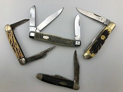 Lot of 4 Pocket Knives Casexxx Elk Ridge Knife & More