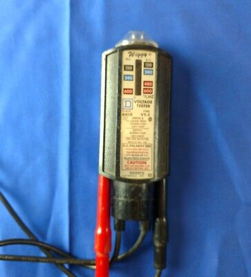 Wiggy Square D Voltage Tester 6610 VT-1 Series A Electrical Test Meter