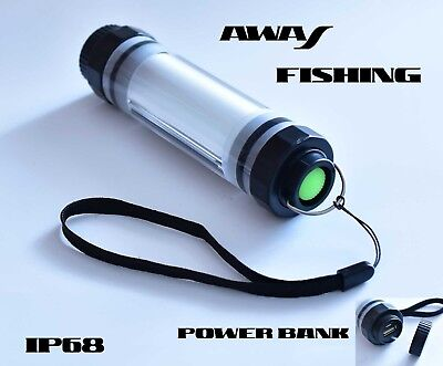 Kopflampe Zeltlampe Camping Waterproof LED Lampe Powerbank IP 68 AWAS