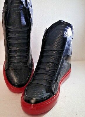 new concept 68f54 7031a NEW YLATI LEATHER High Top Sneakers Trainers Shoes - Zeus Black, 39