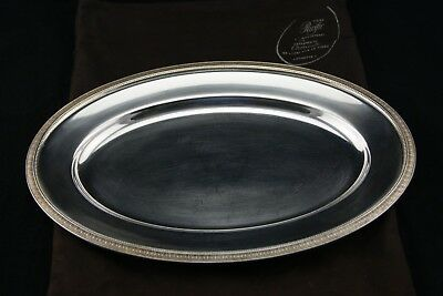 """Christofle Malmaison Fish Vegetables Meat Silverplated Oval Tray 15.3/4"""" France"""