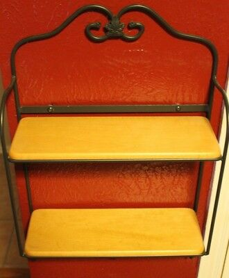 Longaberger Wrought Iron Envelope Stand with 2 shelves